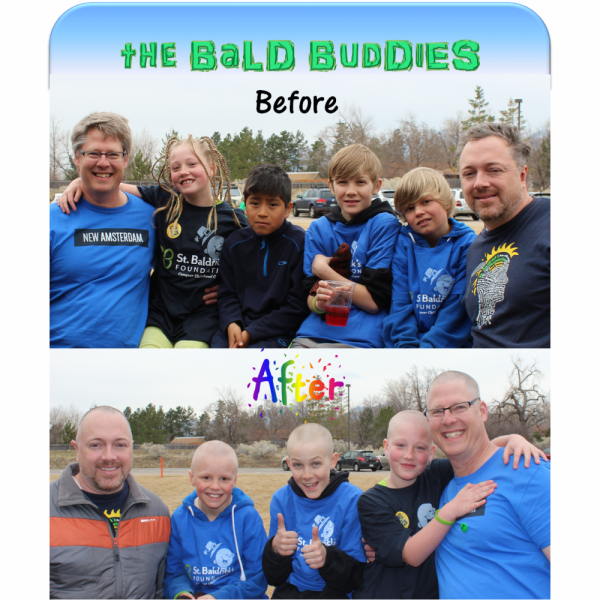 The Bald Buddies Team Logo