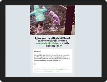 send a holiday e card and give the gift of childhood cancer research