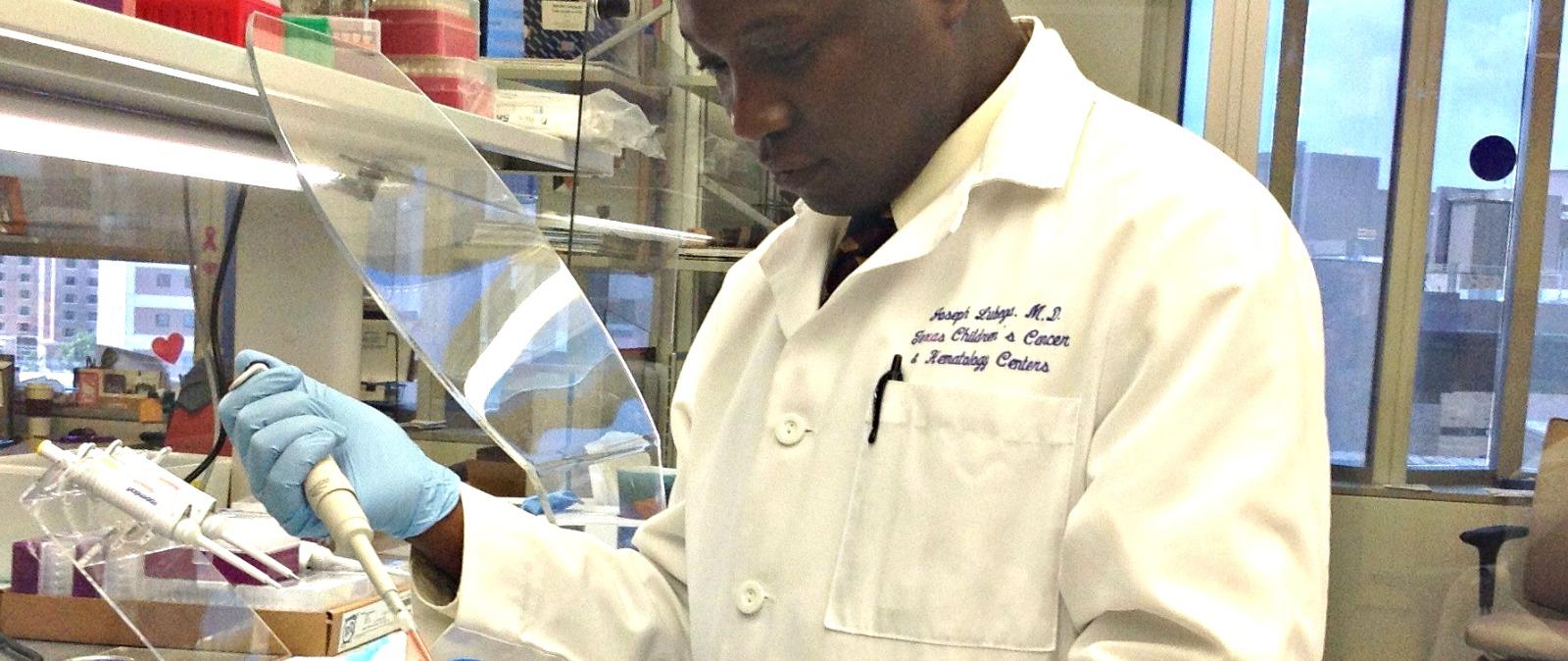 Dr-Joseph-Lubega-in-lab