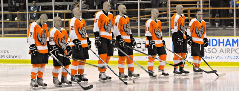 El Paso Texas Hockey Team Shaves For Childhood Cancer