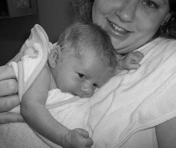 Jackson Grabow as an infant