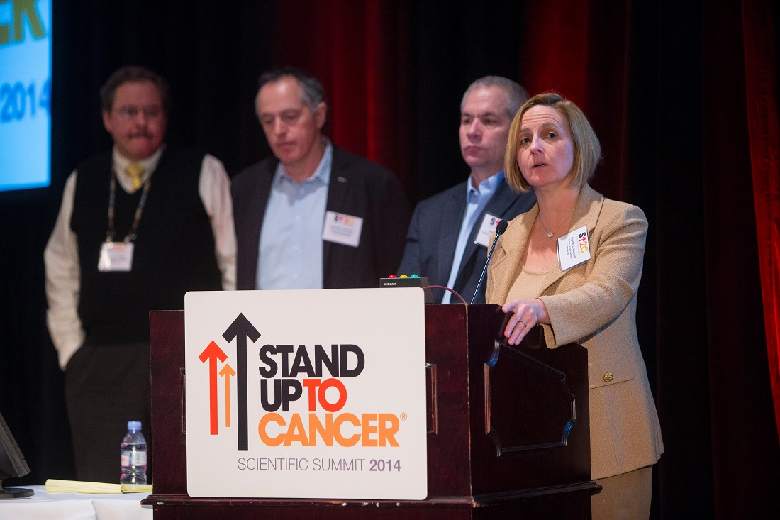 Dr. Crystal Mackall at the Stand Up to Cancer Scientific Summit
