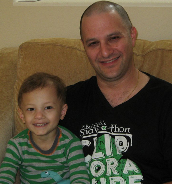 Jeff Bernstein and his son Micah