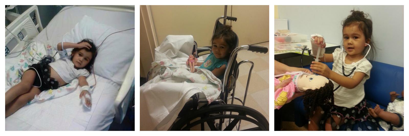 Aubrey while in treatment for acute lymphoblastic leukemia (ALL)