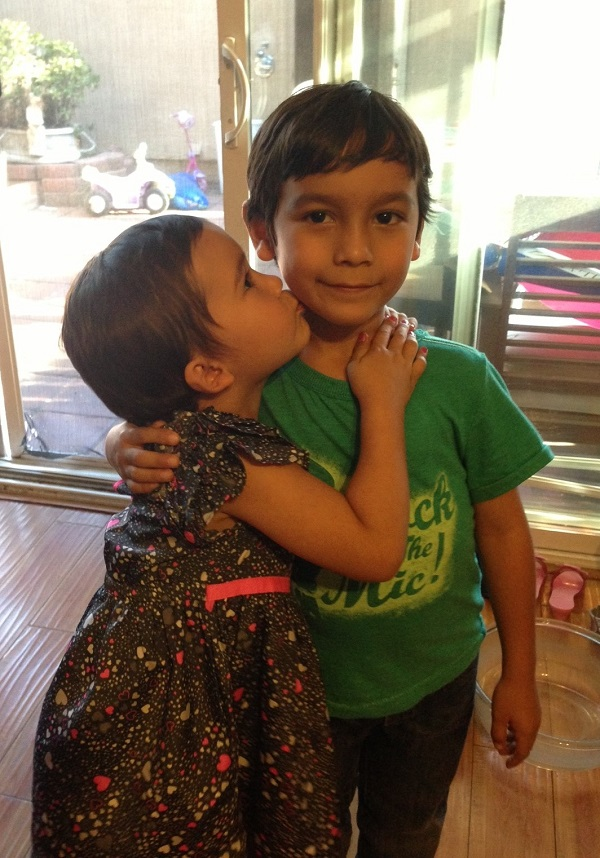 Aubrey Castro and her brother Aiden