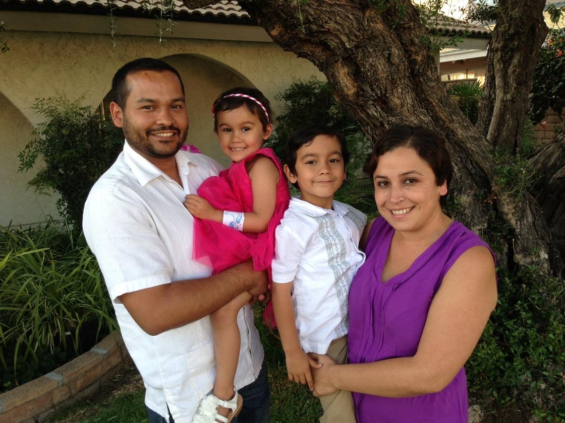 Aubrey Castro and her family