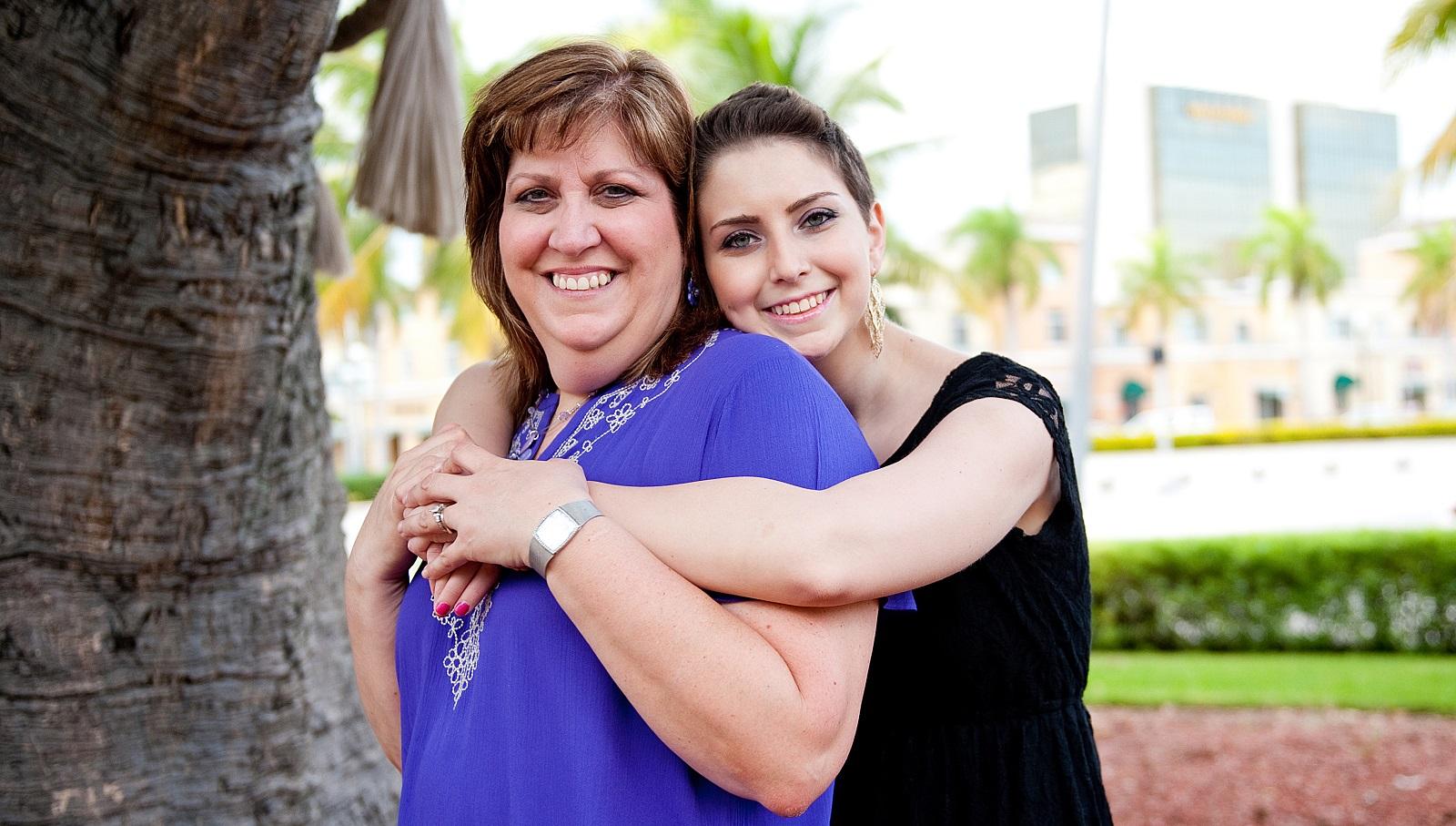 Lauren and her mom