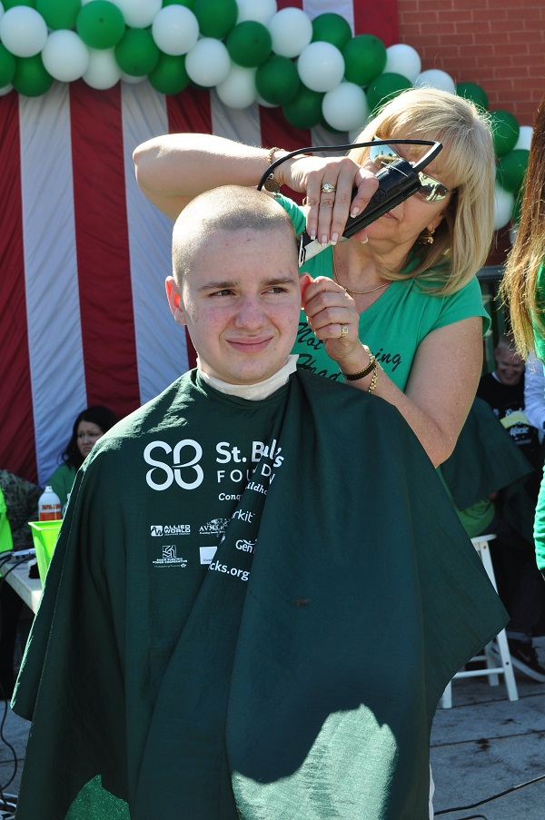 Will shaving his head for St. Baldrick's