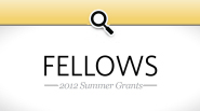 St. Baldrick's 2012 Summer Grants: Fellows